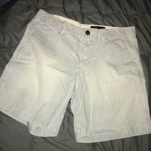 Gap railroad stripe shorts